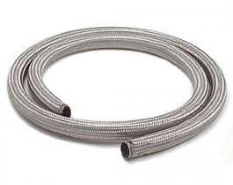 Chevelle Heater Hose, Sleeved, Stainless Steel, 3/4 x 6'
