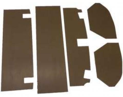 Chevelle Trunk Upholstery Panel Kit, 1/4 Tempered Hardboard, 1970-1972