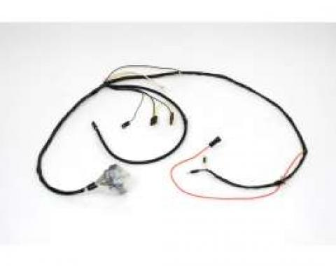 Chevelle Engine Wiring Harness, Small Block, For Cars With Factory Gauges & Idle Stop Solenoid, 1968