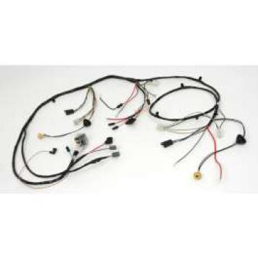Chevelle Front Light Wiring Harness, 6 Cylinder, For Cars With Warning Lights, 1970