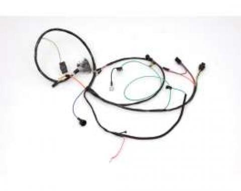 Chevelle Engine Wiring Harness, 327/350hp L79, For Cars With Warning Lights & Air Conditioning, 1966
