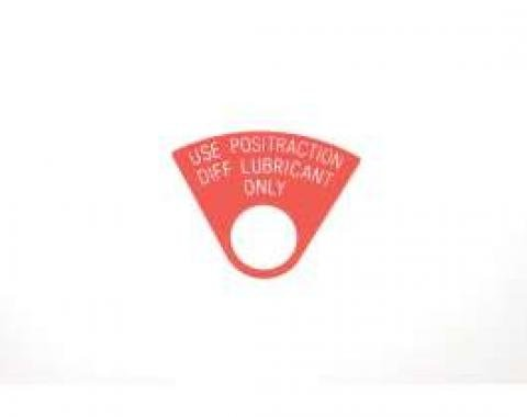 Chevelle Plug Tag, Positraction, 1964-1967