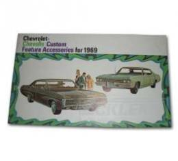 Chevelle, Station Wagon, Color Accessory Brochure, 1969