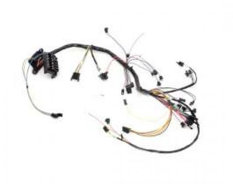 Chevelle Dash Wiring Harness, Main, For Cars With Warning Lights, Column Shift Transmission & Air Conditioning, 1966