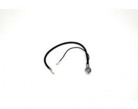 Chevelle Battery Cable, Spring Ring, Negative, 6 Cylinder & V8, For Cars With Standard Battery, 1967