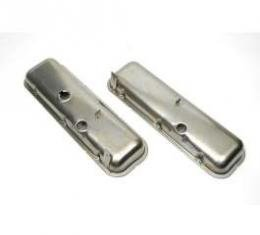 Chevelle Valve Covers, Big Block Without Power Brake Booster, Plain,1965-1972