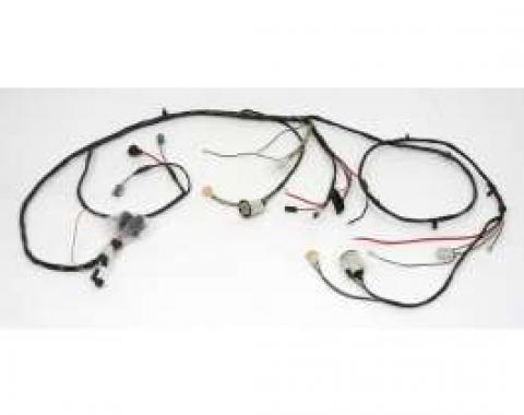 Chevelle Front Light Wiring Harness, 6 Cylinder, For Cars With Warning Lights, 1971