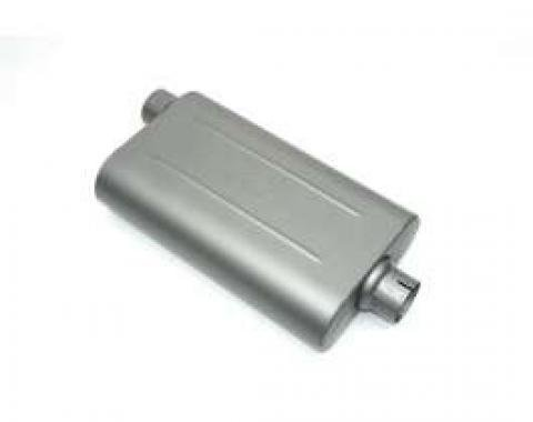Chevelle Muffler, 2.25, Offset/Center, Edelbrock, 1964-1972