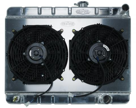Cold Case Radiators 65 GTO Tri-Power Aluminum Radiator And 12 Inch Dual Fan Kit W/O AC MT GPG19K