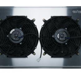 Cold Case Radiators 68-72 A-Body LS SWAP Aluminum Radiator And Dual 12 Inch Fan Kit GMA546AK
