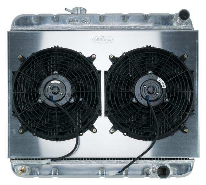 Cold Case Radiators 64-65 GTO w/ AC MT Aluminum Performance Radiator and Dual Fan Kit GPG22K