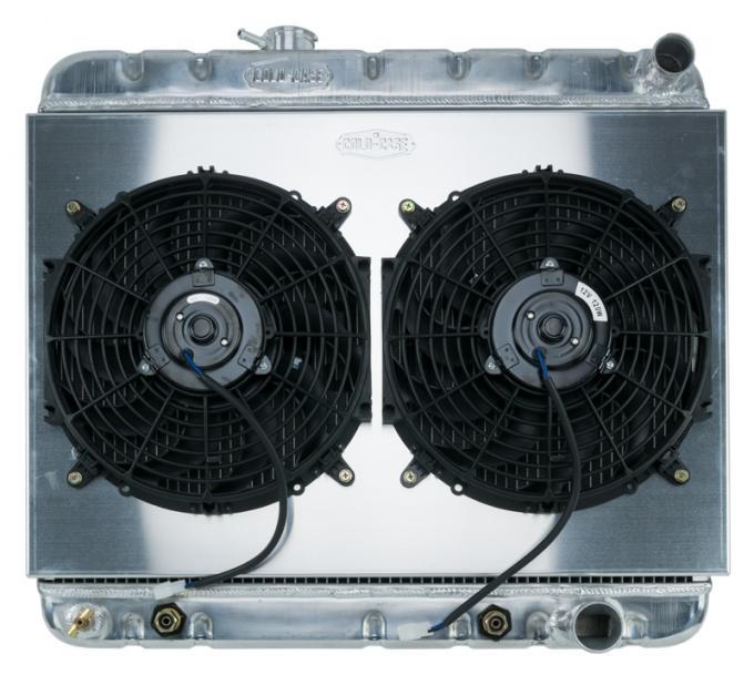 Cold Case Radiators 64-65 GTO w/ AC AT Aluminum Performance Radiator Dual Fan Kit Cold Cae Radiators GPG22AK