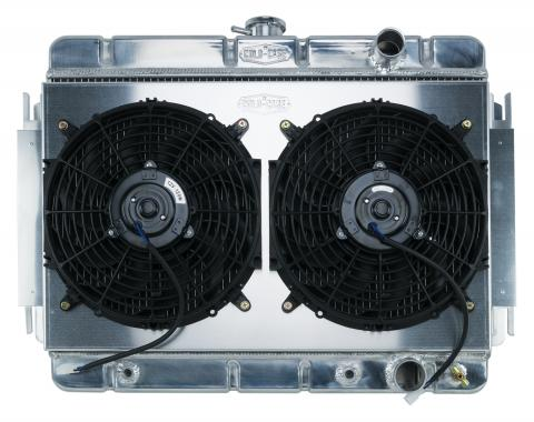 Cold Case Radiators 64-65 Chevelle / El Camino Aluminum Radiator And Dual 12 Inch Fan Kit AT CHE541AK