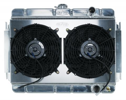 Cold Case Radiators 64-65 Chevelle / El Camino Aluminum Radiator And Dual 12 Inch Fan Kit MT CHE541K