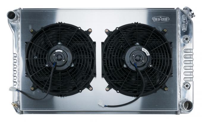 Cold Case Radiators 80-87 G-Body Aluminum Performance Radiator Dual Fan Kit GMG544A-1K