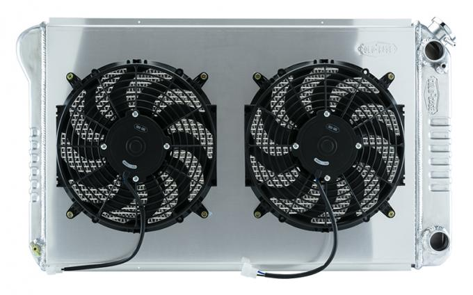Cold Case Radiators 68-77 A-Body LS SWAP Aluminum Radiator And Dual 14 Inch Fans GMA546ASK