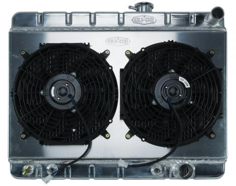 Cold Case Radiators 65 GTO Tri-Power Aluminum Radiator And 12 Inch Dual Fan Kit W/O AC AT GPG19AK