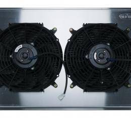 Cold Case Radiators 68-72 A-Body Aluminum Radiator Automatic Transmission Dual 12 Inch W/12 Inch Fan Kit GMA42AK