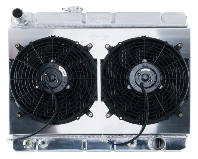 Cold Case Radiators 64-67 GTO w/ AC HO/SD 1.25 Inch Radiator KIT Automatic Transmission GPG38ASK