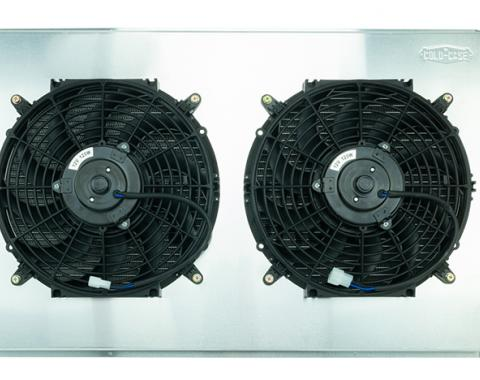 Cold Case Radiators 67-76 Chevy GMC Pickup Truck LS Swap Aluminum Radiator AT and 12 Inch Fan Kit GMT558ALSK