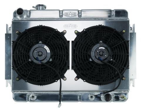 Cold Case Radiators 66-67 Chevelle / El Camino Aluminum Radiator And Dual 12 Inch Fan Kit AT CHE542AK