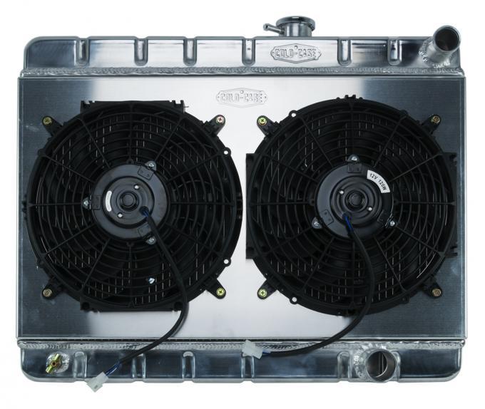 Cold Case Radiators 65 GTO Tri-Power Aluminum Radiator And 12 Inch Dual Fan Kit W/O AC MT GPG19K