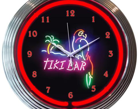 Neonetics Neon Clocks, Tiki Bar Neon Clock