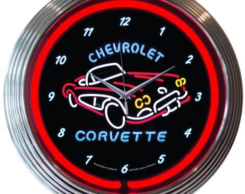 Neonetics Neon Clocks, Corvette C1 Neon Clock