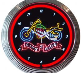 Neonetics Neon Clocks, Live 2 Ride Neon Clock