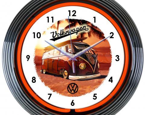 Neonetics Neon Clocks, Volkswagen Bus Neon Clock