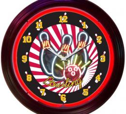 Neonetics Neon Clocks, Bowling Neon Clock