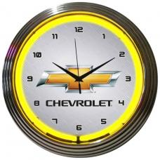 Neonetics Neon Clocks, Gm Chevrolet Yellow Neon Clock