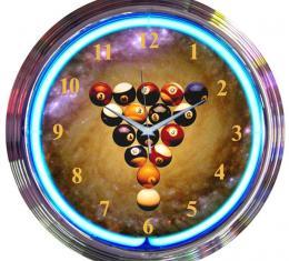 Neonetics Neon Clocks, Billiards Spaceballs Neon Clock