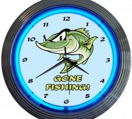 Neonetics Neon Clocks, Gone Fishing Neon Clock