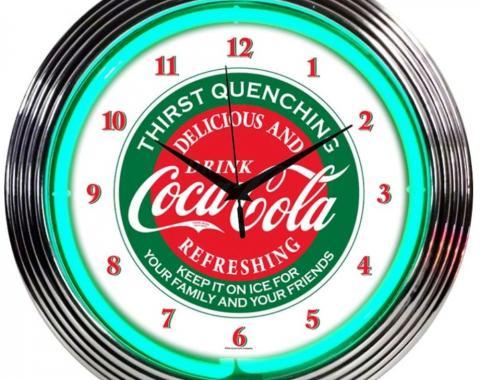 Neonetics Neon Clocks, Coca-Cola Evergreen Neon Clock