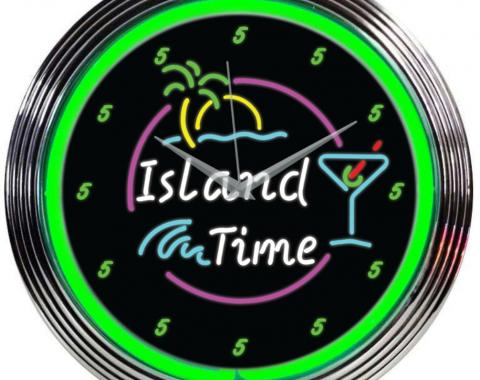 Neonetics Neon Clocks, Island Time Neon Clock