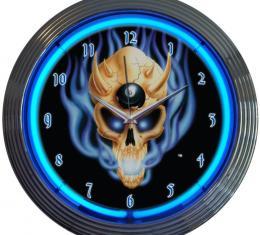 Neonetics Neon Clocks, 8 Ball Skull Neon Clock