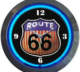 Neonetics Neon Clocks, Route 66 Round Neon Clock