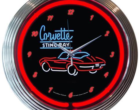 Neonetics Neon Clocks, Corvette Sr Neon Clock