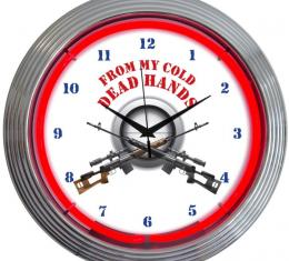 Neonetics Neon Clocks, Gun - From My Cold Dead Hands Firearms Neon Clock