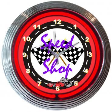 Neonetics Neon Clocks, Speed Shop Neon Clock