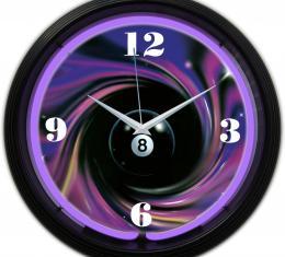Neonetics Neon Clocks, 8 Ball Swirl Neon Clock