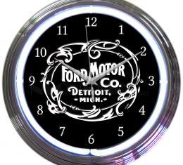 Neonetics Neon Clocks, Ford Motor Company 1903 Heritage Emblem Neon Clock
