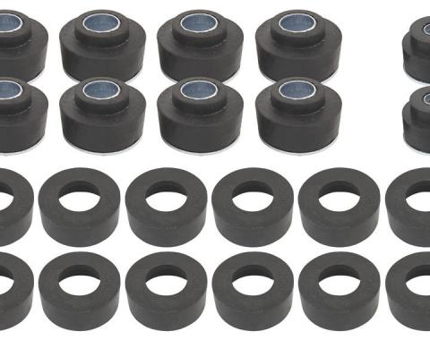 RestoParts Bushing Kit, Body, 1968-72 Chev./Cut. CNV, 30 Bushings SB0517