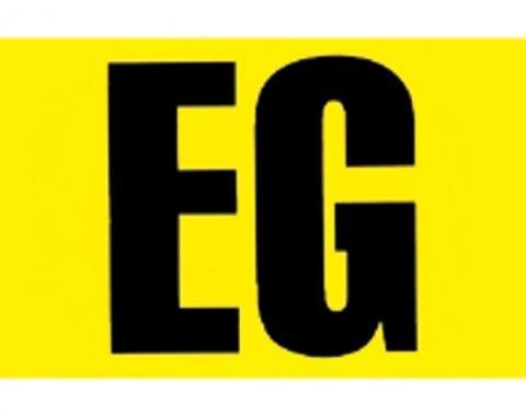 RestoParts Decal, 66-68 Chevelle/El Camino, Engine Code, 396 375HP, EG D543611