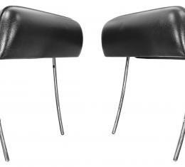 RestoParts Headrest, 1969 GM A Body, Bucket, Black CH20007