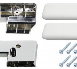 RestoParts Armrest Base/Pad Kit, Front, 1965-67 A-Body, White AK15WH