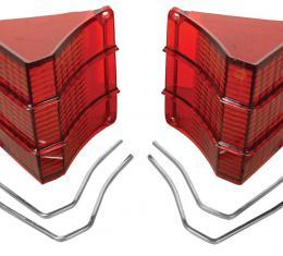 RestoParts Lens, Tail Lamp, 1967 El Camino/Wagon, w/ Trim 95EC67