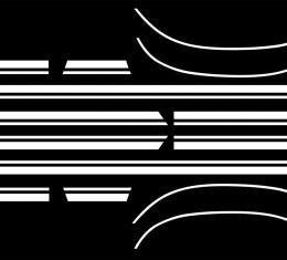 RestoParts Decal, 67 Chevelle, Body Side Stripe, Super Sport, Deluxe, White 3913933