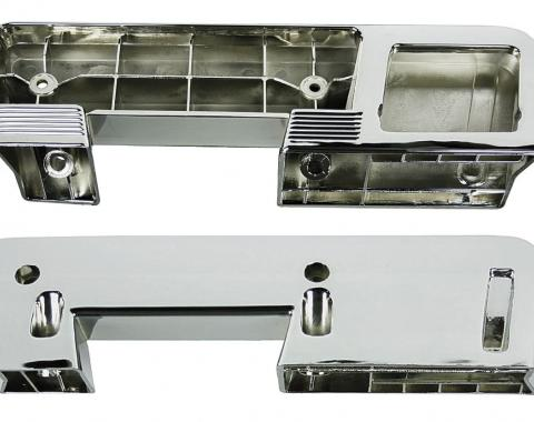 RestoParts Armrest Base, Rear, 1960-67 GM, Chrome DP00490